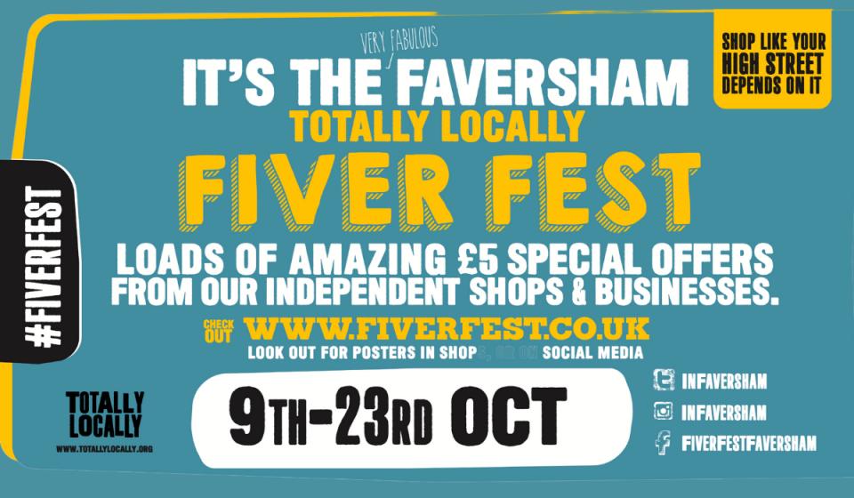 Fiver Fest Faversham banner
